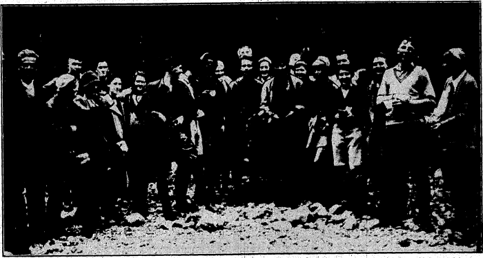 Members of the Carterton Tramping Club with the four missing trampers.